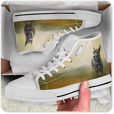 Jai Johnson Artist Collection Wistful Dane - Men's Women's High Low Top Black White Trim Canvas Shoes Open Brown Box- EXPRESS DELIVERY!