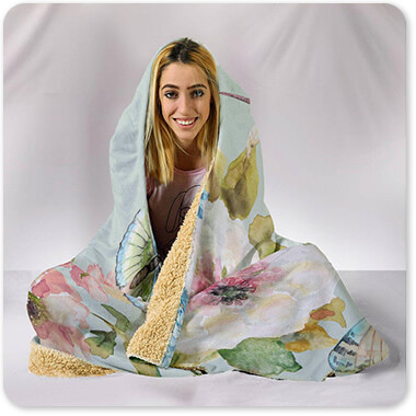 Jean Plout Artist Collection Botanical Beauty - Hooded Blanket