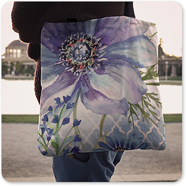 Jean Plout Artist Collection Floral Collection Flowers Sheila's Lovely Garden-A - Canvas Tote Bag copy