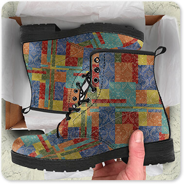 Jean Plout Artist Collection Damask Rooster vM - Men's Women's Leather Boots Open Brown Box - EXPRESS DELIVERY! copy