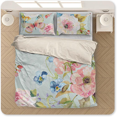 Jean Plout Artist Collection Botanical Beauty-B - King Queen Twin Duvet Bedding Set
