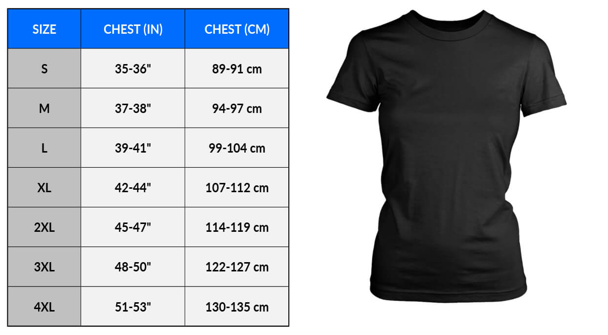 Sizing Measurements Charts - Apparel - CHART and Image - DistrictWomens and SHIRT