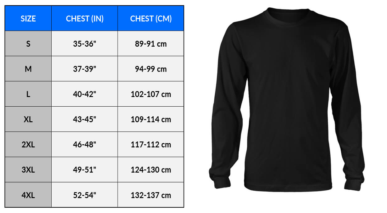 Sizing Measurements Charts - Apparel - CHART and Image - District Long Sleeve