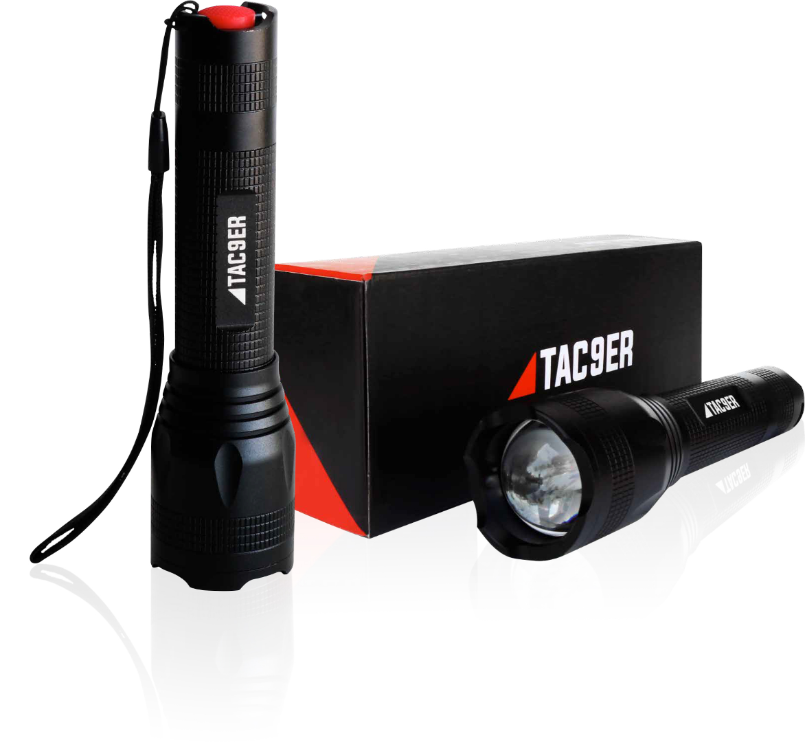 Tac9er Rechargeable Tactical Flashlight