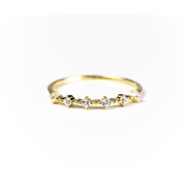Nicolette Stackable 18K Gold Vermeil Ring