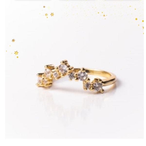 Valerie Stack Ring 18K Gold Vermeil