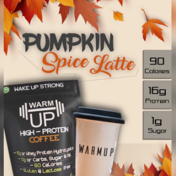 pumpkin spice latte coffee protein whey protein low carb protein powder high protein coffee keto protein powder caffeinated protein powder