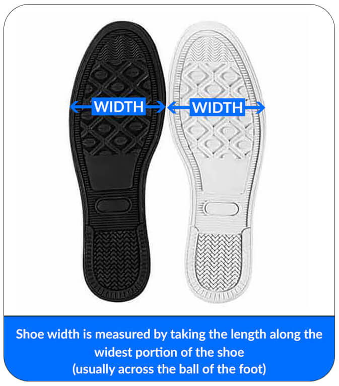 Sizing Measurement Charts - Men's Women's Canvas High and Low Top Shoes BottomOfShoes
