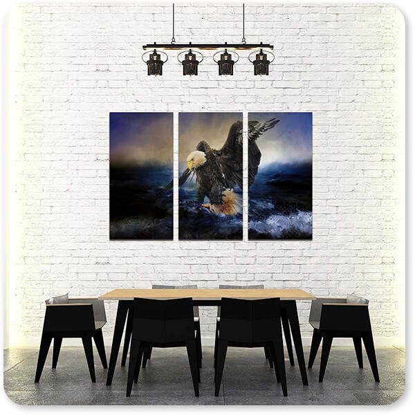 Bald Eagles Collection Deep Sea Fishing - Multi-piece Canvas Art - 3 Designs - EXPRESS DELIVERY!