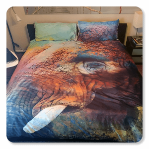 Colorful Expressions: Elephant Bedding Set