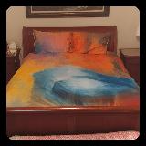 Abstract Bluebird Queen Full Bedding Set