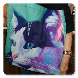 Cat Kitty Canvas Tote Bag