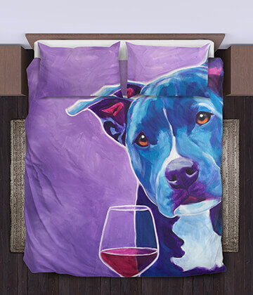 Shakti With Wine - Bedding Set