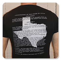 Texas State Flag Constitution T-Shirt back