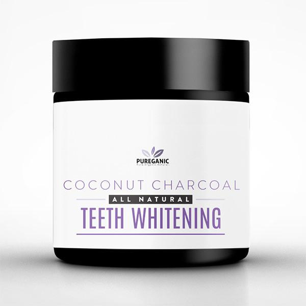 Pureganic All Natural Activated Coconut Charcoal Teeth Whitening Powder