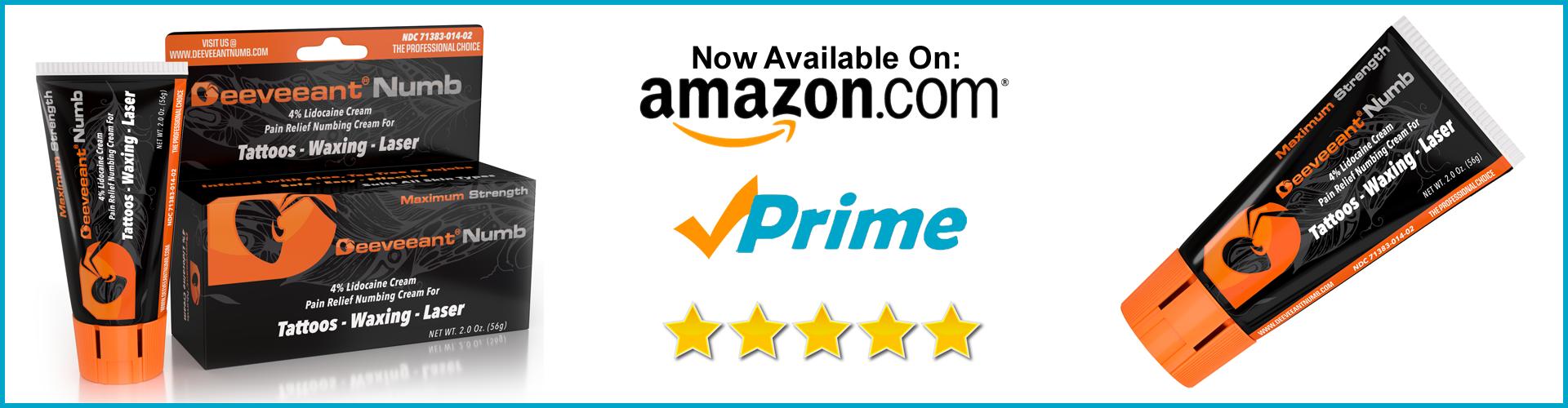 Deeveeant Numb Cream on Amazon