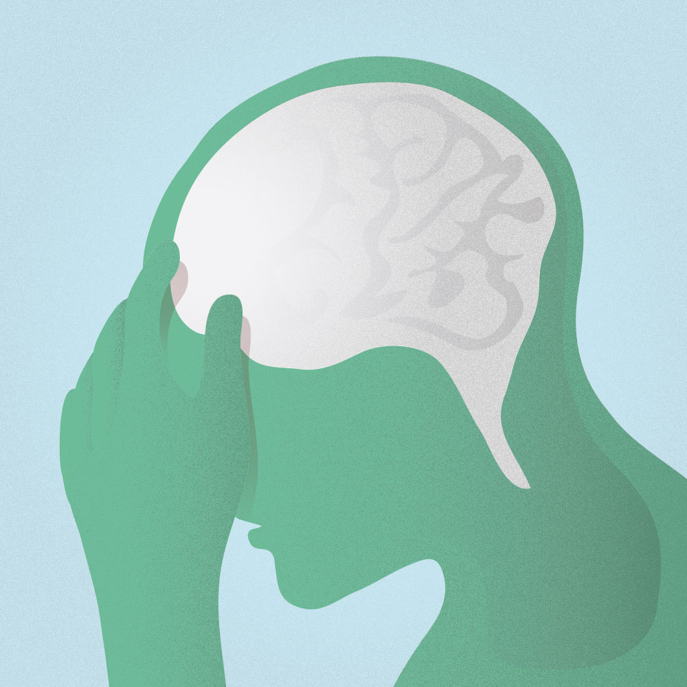 Migraines are often linked to sleep deprivation, which might be caused by stress.