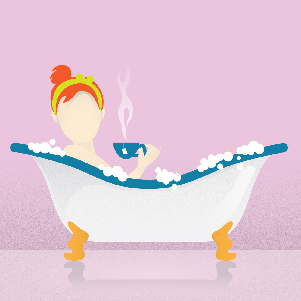 Taking a warm bath or having a cup of tea are ways to help you relax and ease your migraines.