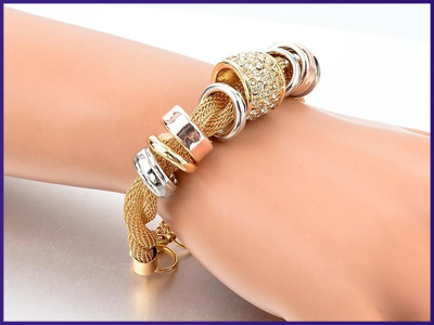 Entwined Gold Metal Bracelet