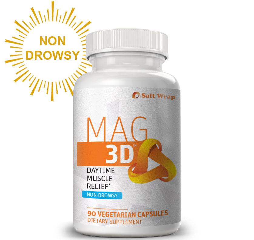 Mag 3D Non-Drowsy Muscle Relaxer for Cramps, Pain, Neuropathy with Magnesium Malate
