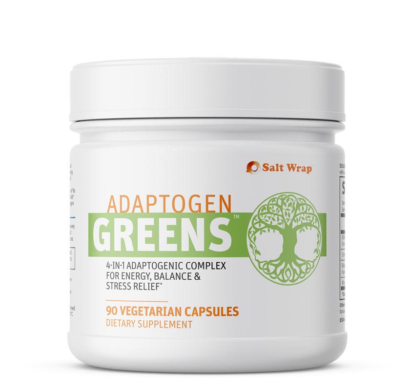 Adaptogen Greens 4-in-1 Adaptogen Complex with Ashwagandha, Rhodiola, Eleuthero, Shisandra