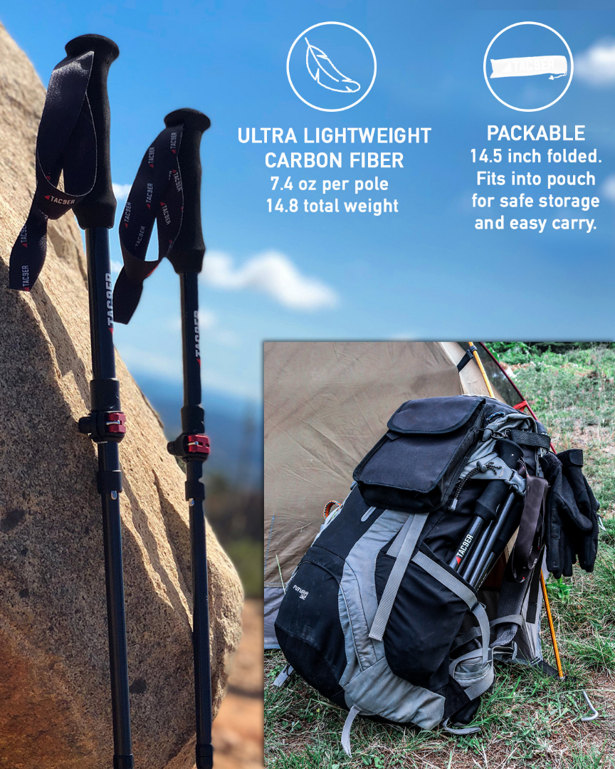Ultralight Carbon Fiber Trekking Poles