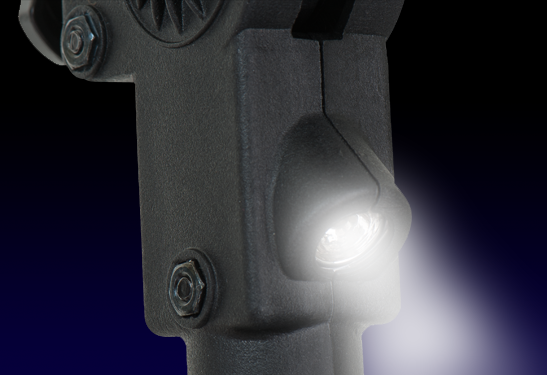 Linterna integrada al cuerpo de la muleta ERGOBAUM 7G