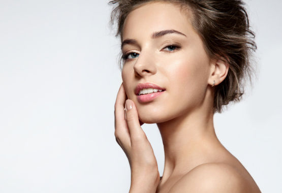 woman with young, clear skin
