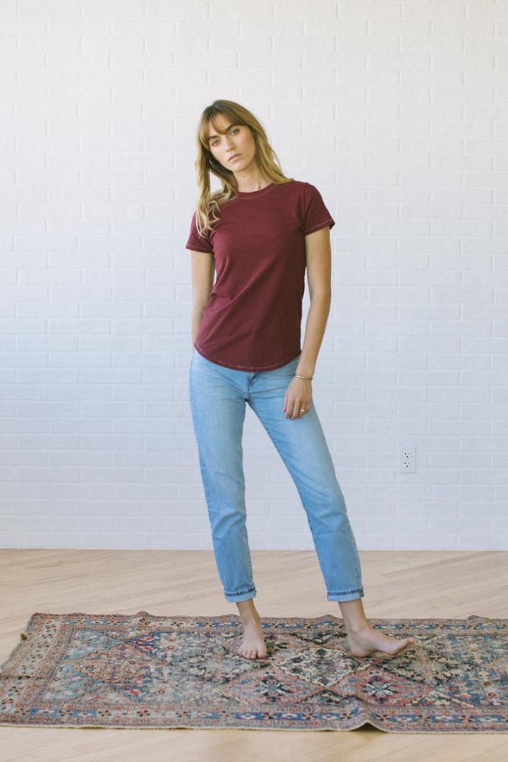 103 Girlfriend T-Shirt Garnet