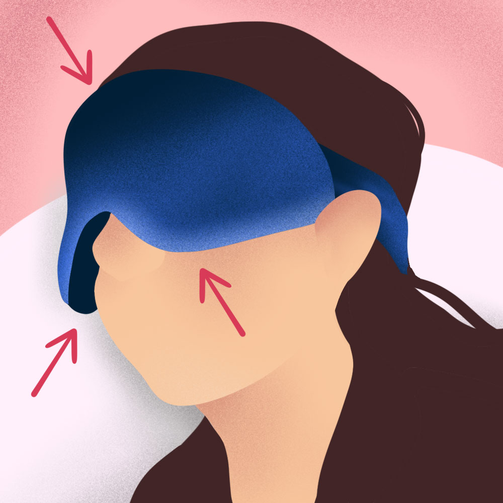 Avoid those sleep masks that don't block out all the light.
