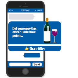 Incentivise customers to share your offer