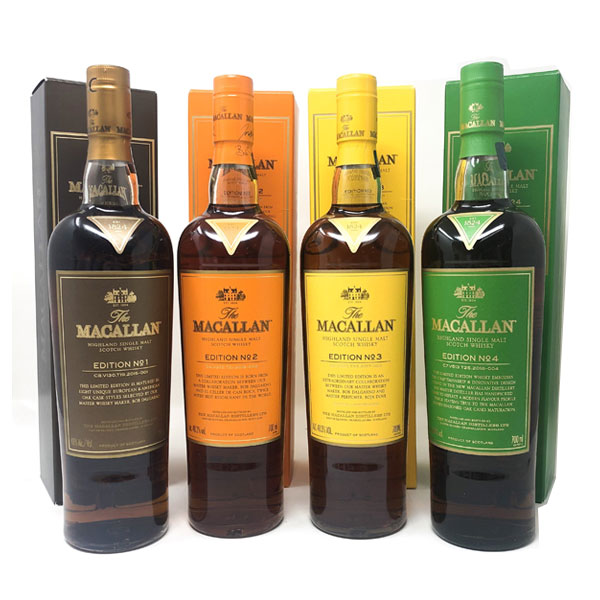 Macallan Edition No. 1-4 (4 Bottles)