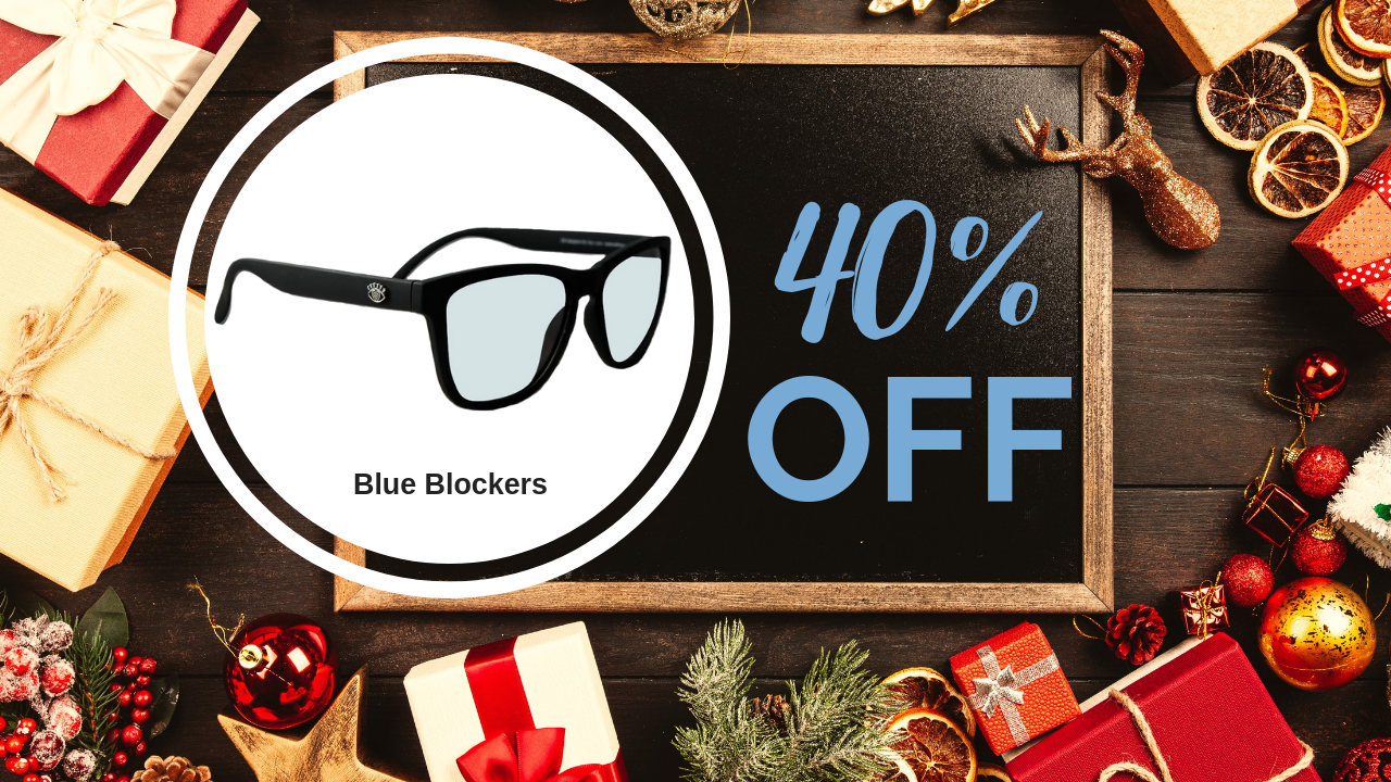Eye Love Blue Light Blocking Glasses - Black Lincolns