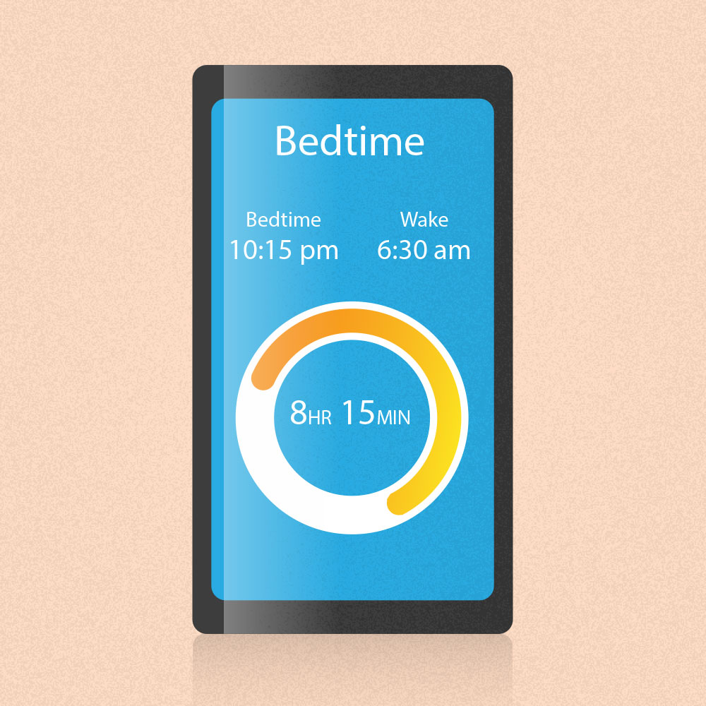Having a sleep routine with set go to bed time and wake up time is essential to a healthy new year.