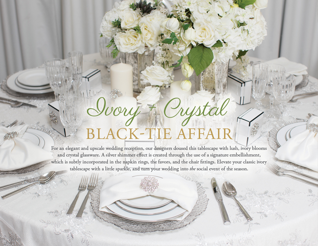 Ivory and Crystal Black-Tie Affair