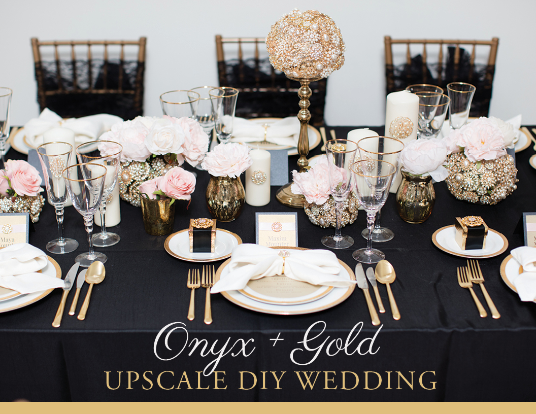 Onyx and Gold Upscale Wedding