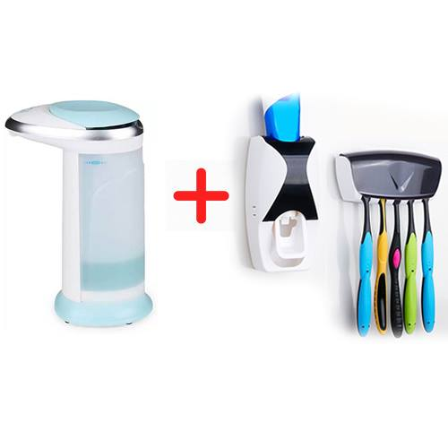 Automatic Soap Dispenser Automatic Toothpaste Dispenser Combo