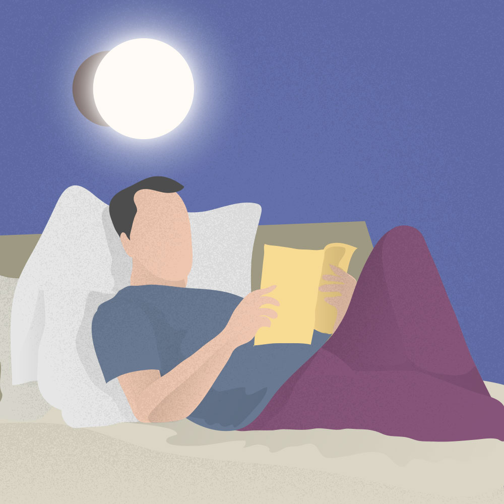 The best way to avoid stress dreams is to start a calming bedtime routine, such as reading a book before sleep.