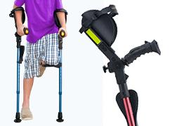 Muletas Ergobaum Jr para personas de baja estatura, jovenes y niños