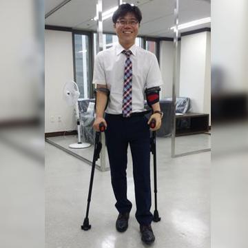 Mr. Ji Seong-Ho luego de escapar de Corea del Norte