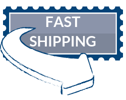 blue fast shipping badge
