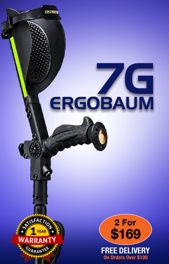 Ergobaum 7G crutches - 2 Per Only 169 - Free Shipping on order over $100