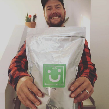 big bag of matcha happy customer