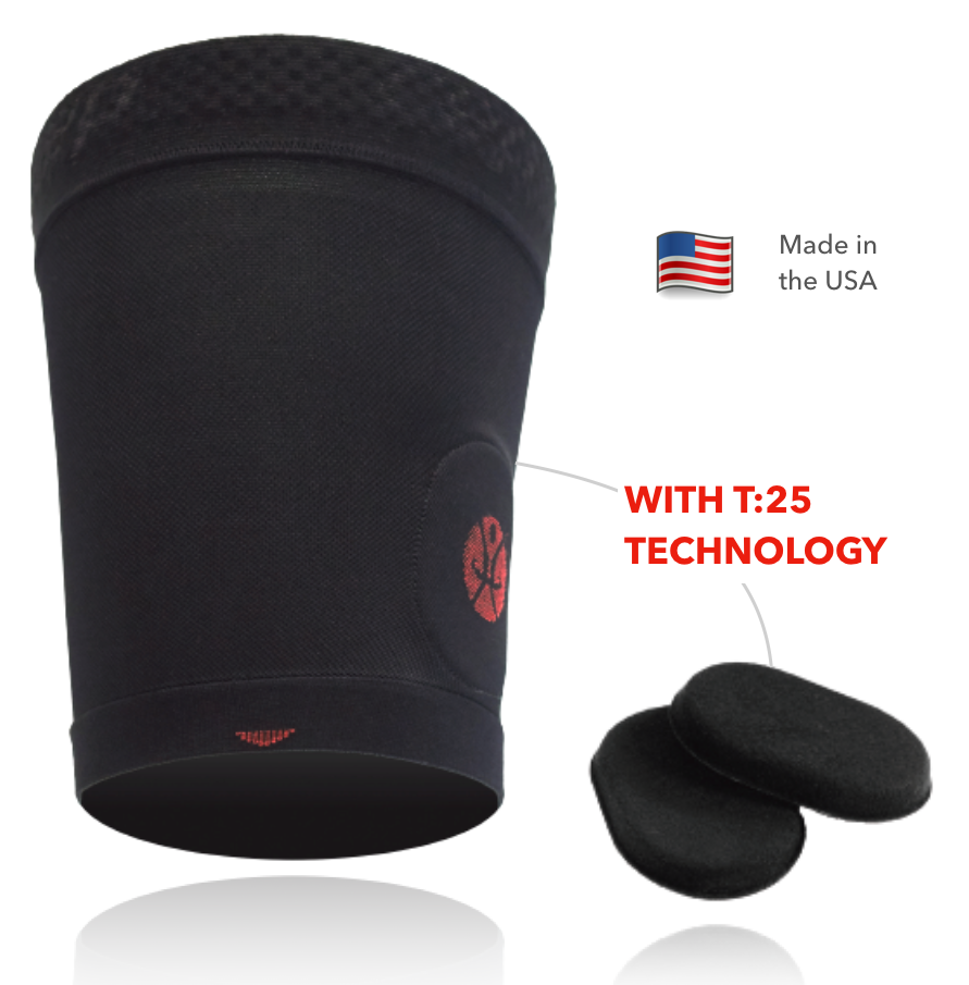 t25 technology with pads and USA flag