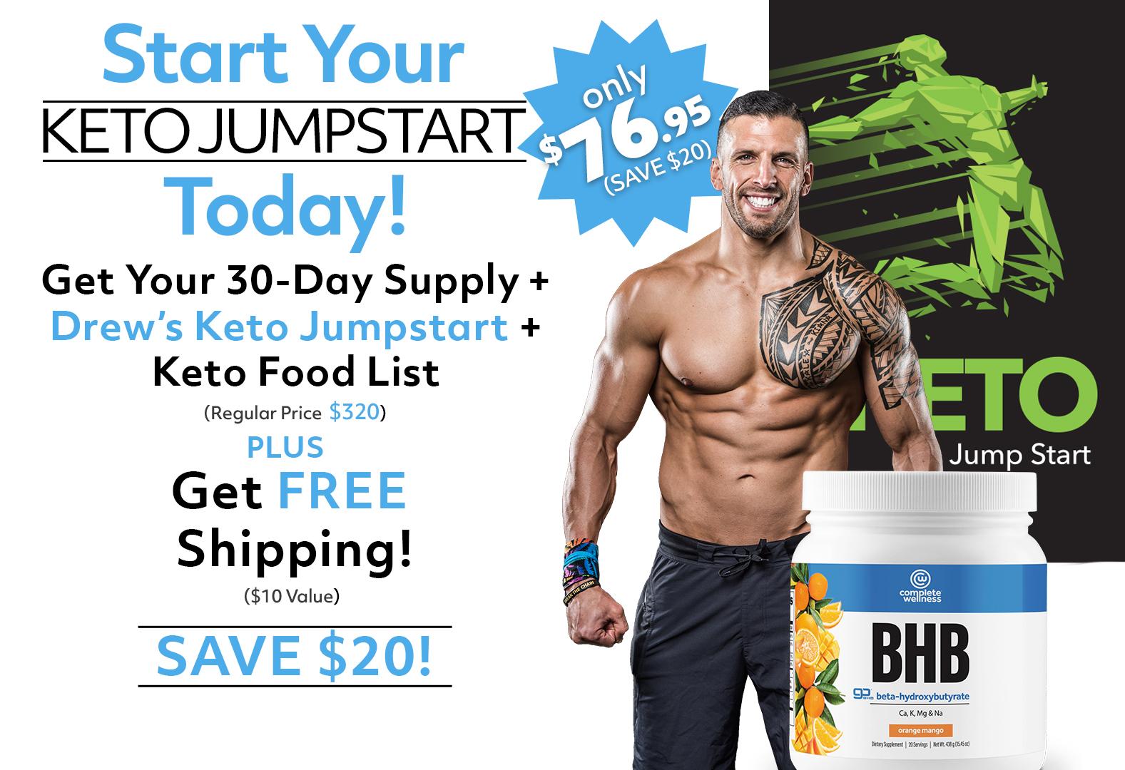Complete BHB's + Drew Manning's 60 Day Keto Jumpstart