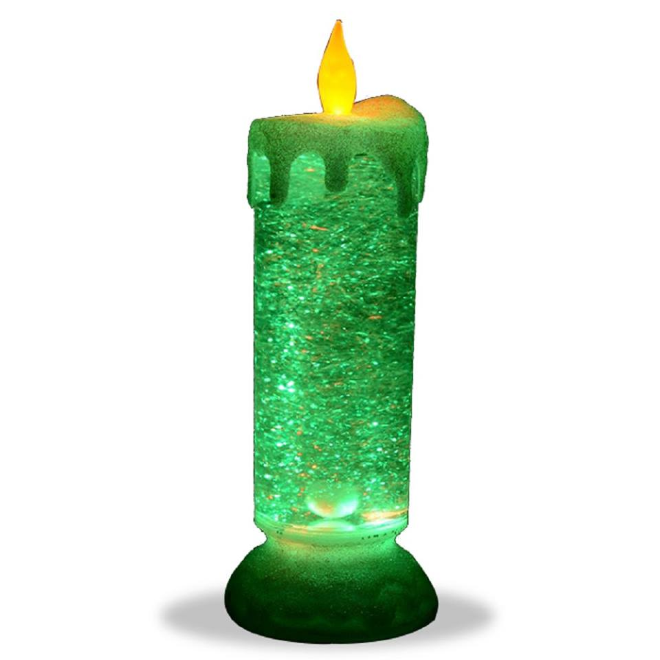Flameless Flickering Candles Led Glitter Candle