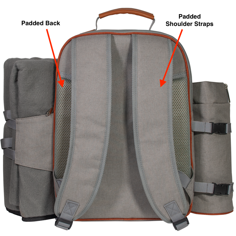 Look for comfortable straps and back pads in a picnic bacpack