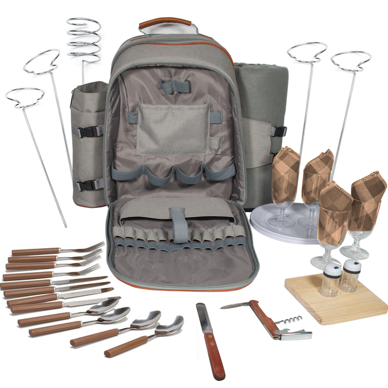 picnic backpack for traveling, hiking, canoeing, etc.
