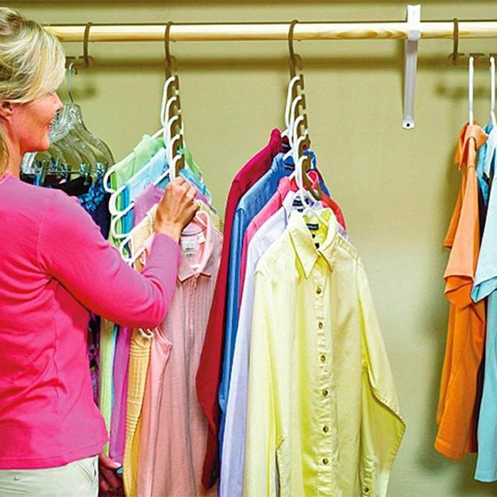 Clothes Hanger Space Saving Organizers